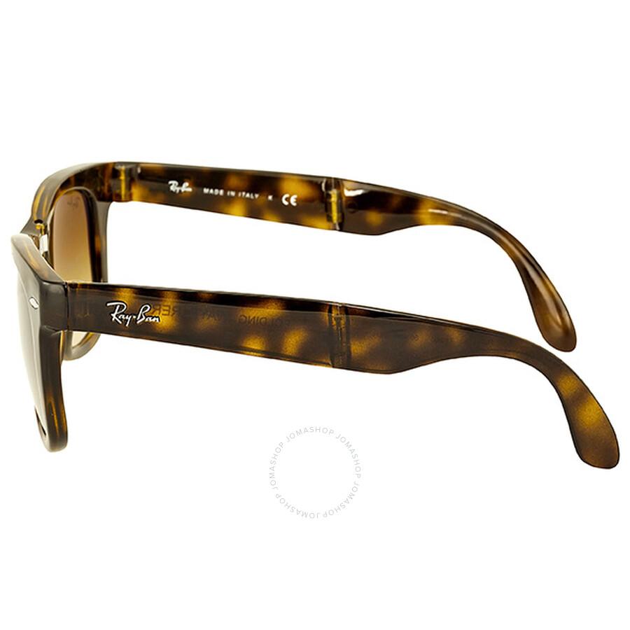 68c8bb6559 ... Ray-Ban Folding Wayfarer Havana Frame Brown Gradient Lens Sunglasses  RB4105-71051 ...