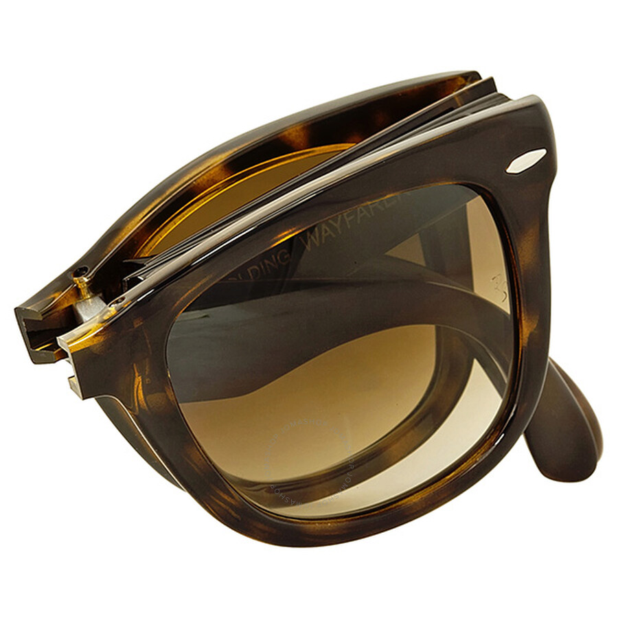 a77b30c055 ... coupon code for ray ban folding wayfarer havana frame brown gradient lens  sunglasses rb4105 71051 893c8