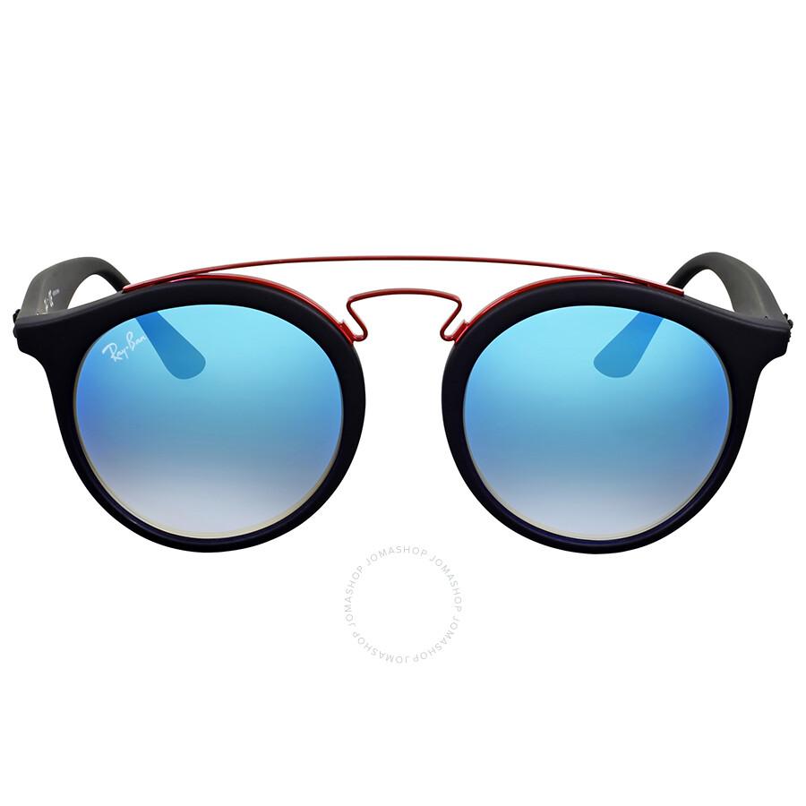 8a7ed0646d Ray Ban Gatsby I Blue Gradient Flash Round Sunglasses Item No. RB4256  6252B7 49