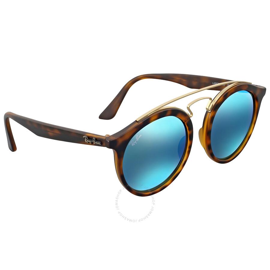7d3bf812acd4 Ray Ban Gatsby I Round Blue Mirror Sunglasses - Gatsby - Ray-Ban ...
