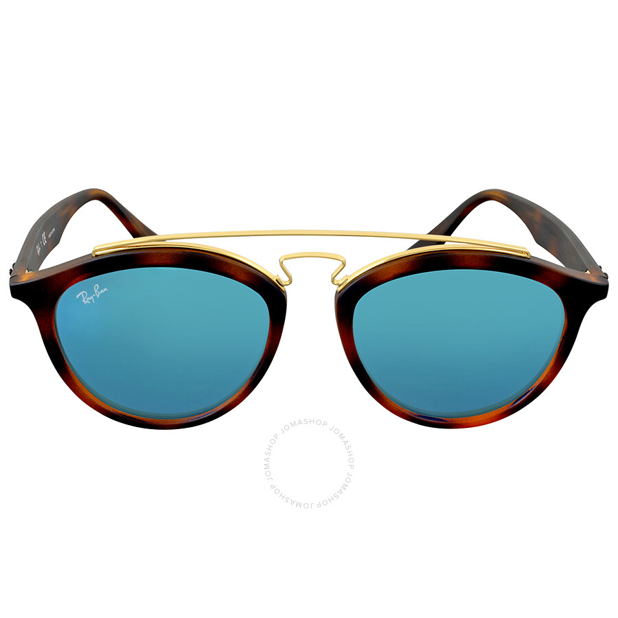 484da8e9ff Ray Ban Gatsby II Blue Mirror Round Sunglasses Item No. RB4257 609255 53