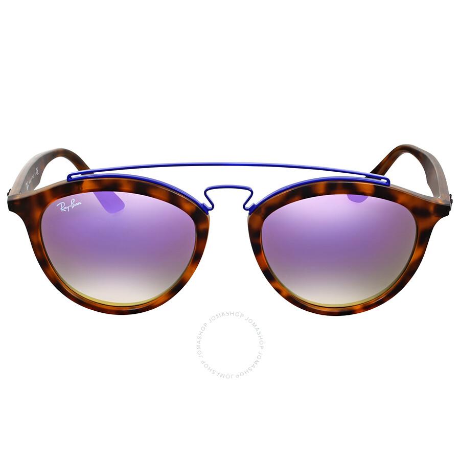 2aee7fdbfa3 Ray Ban Gatsby II Lilac Gradient Mirror Sunglasses Item No. RB4257 6266B0 53