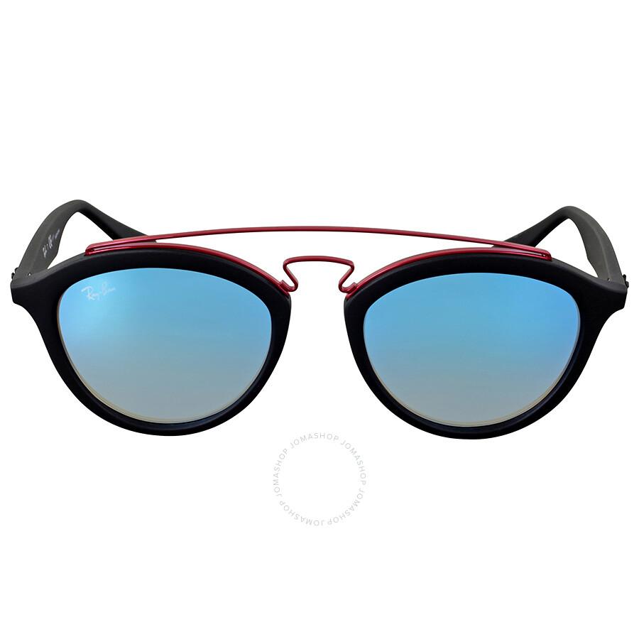 1a97e9f04db Ray Ban Gatsby II Round Blue Gradient Flash Sunglasses Item No. RB4257  6252B7 50