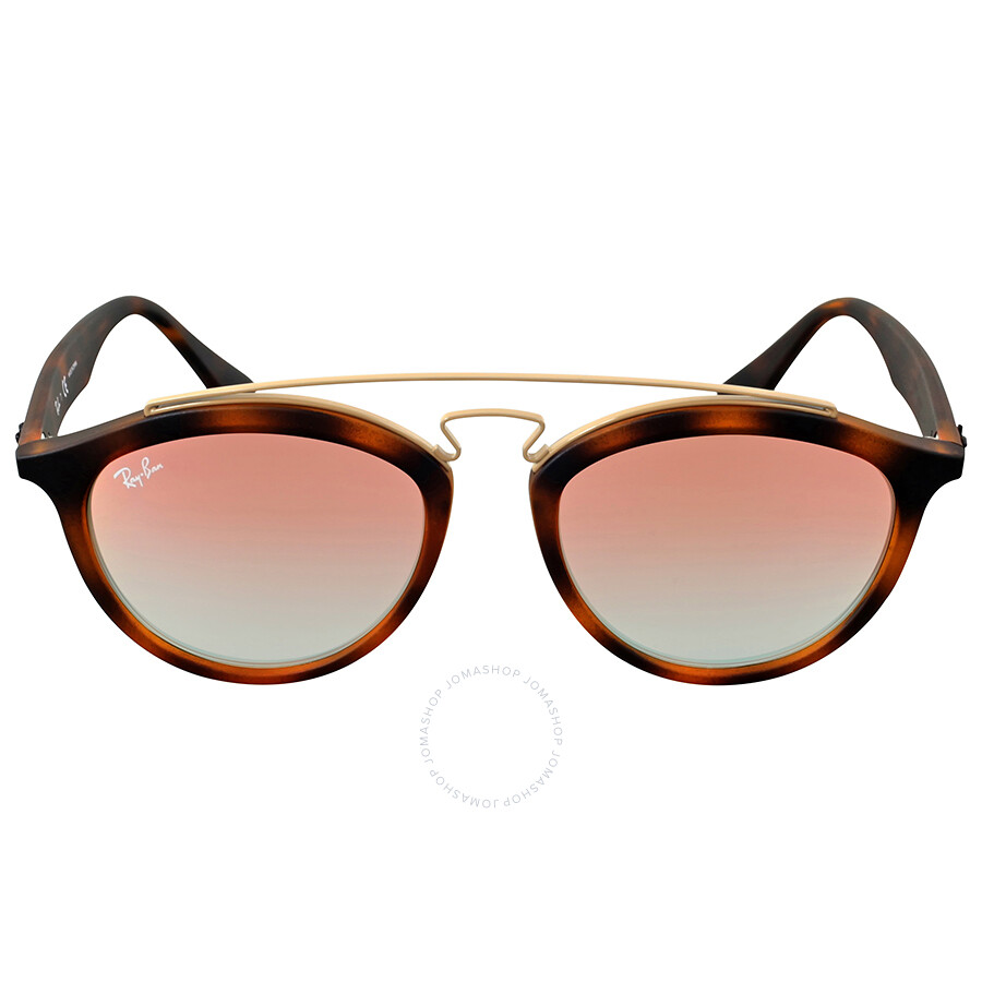 ee7c8946831 Ray Ban Gatsby II Round Copper Gradient Mirror Sunglasses Item No. RB4257  6267B9 53