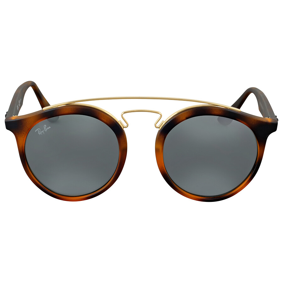 Ray ban gatsby round grey mirror sunglasses ray ban for Mirror sunglasses