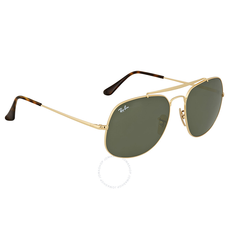 96ec2abf472 Ray Ban General Green Classic G-15 Metal Sunglasses - Aviator - Ray ...