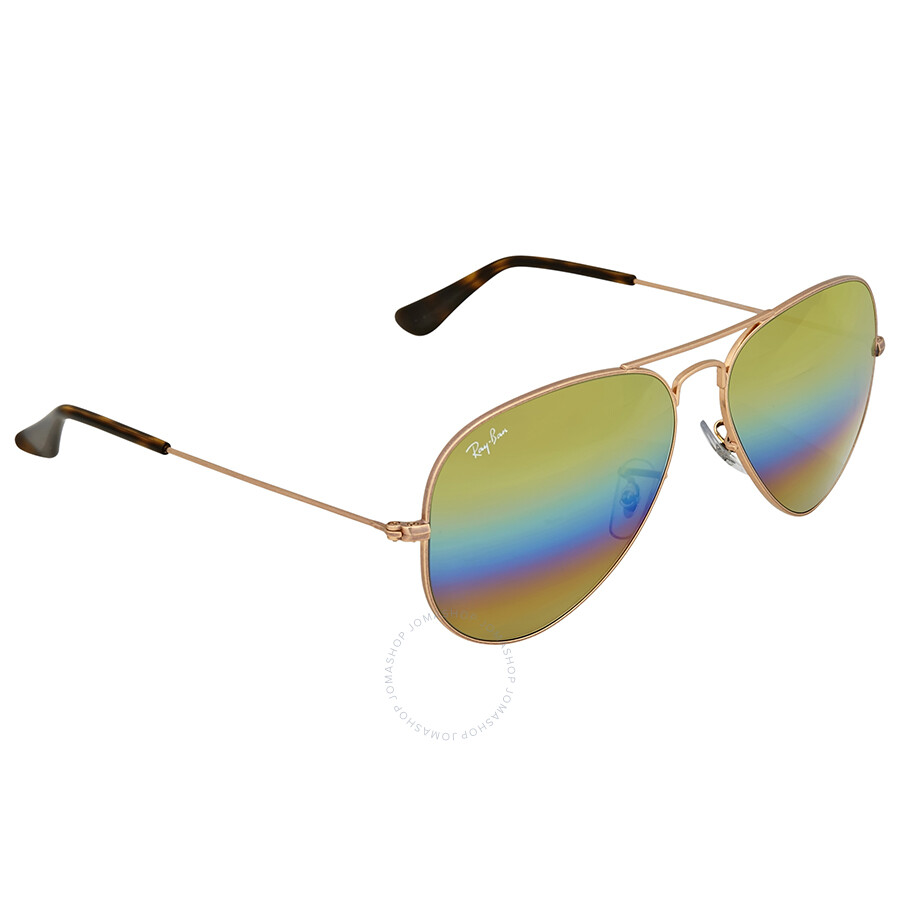 4eccf293b5 Ray Ban Gold Rainbow Flash Aviator Sunglasses - Ray-Ban - Sunglasses ...