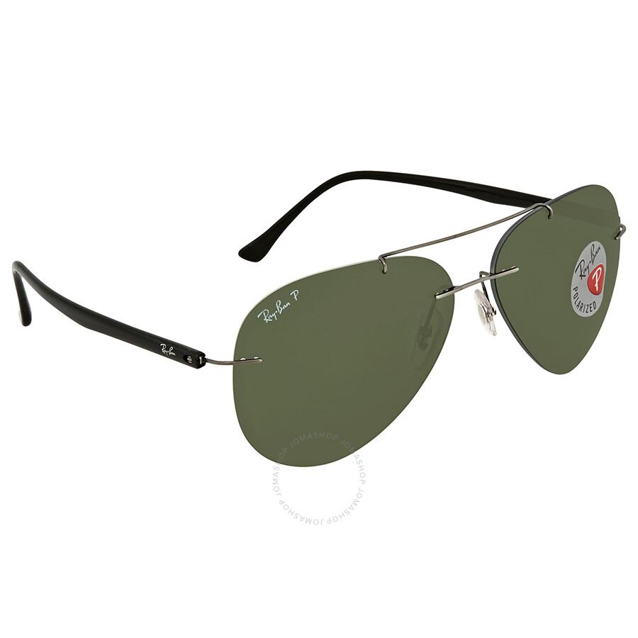 1af391ebfc Ray Ban Green Aviator Men s Sunglasses RB8058 004 9A 59 - Aviator ...