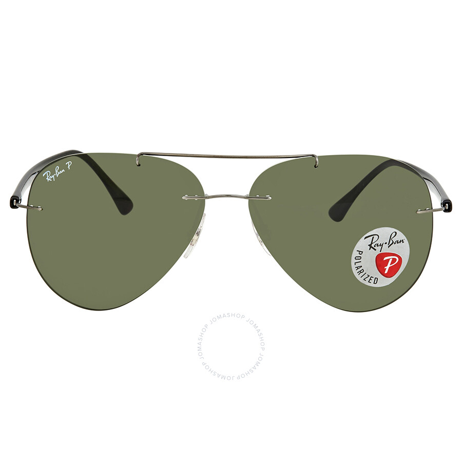 bedb4076e83 Ray Ban Green Aviator Men s Sunglasses RB8058 004 9A 59 - Aviator ...