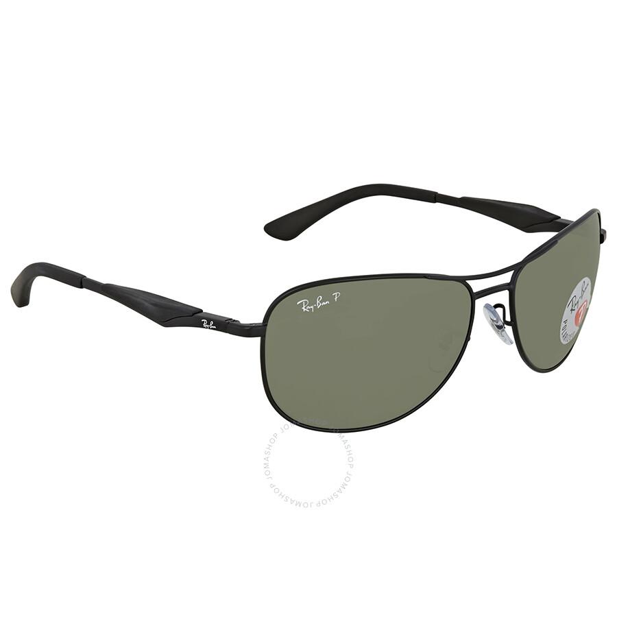 71ace01cfbf Ray Ban Green Aviator Polarized Sunglasses RB3519 006 9A 59 ...