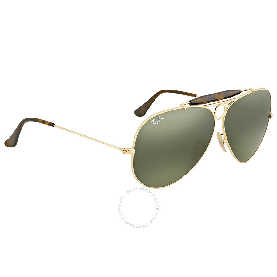 8120a576c6b ... Ray Ban Green Classic G-15 Aviator Men s Sunglasses RB3138 181 62 ...