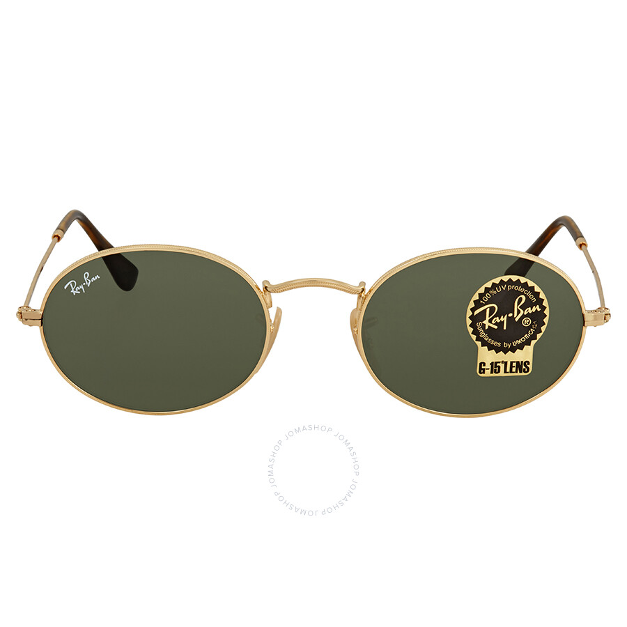 fa909ccbee Ray Ban Green Classic G-15 Oval Sunglasses RB3547N 001 51 - Round ...