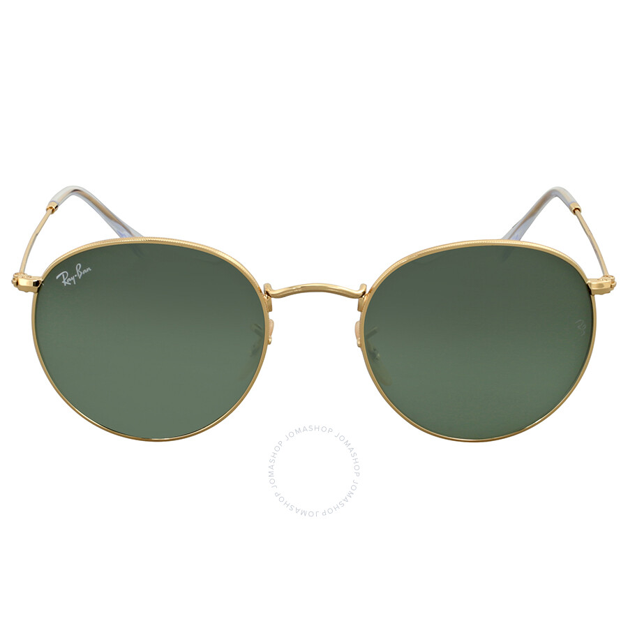 7cf4a5f3ae Ray Ban Green Classic G-15 Round Metal Sunglasses Item No. RB3447 001 53
