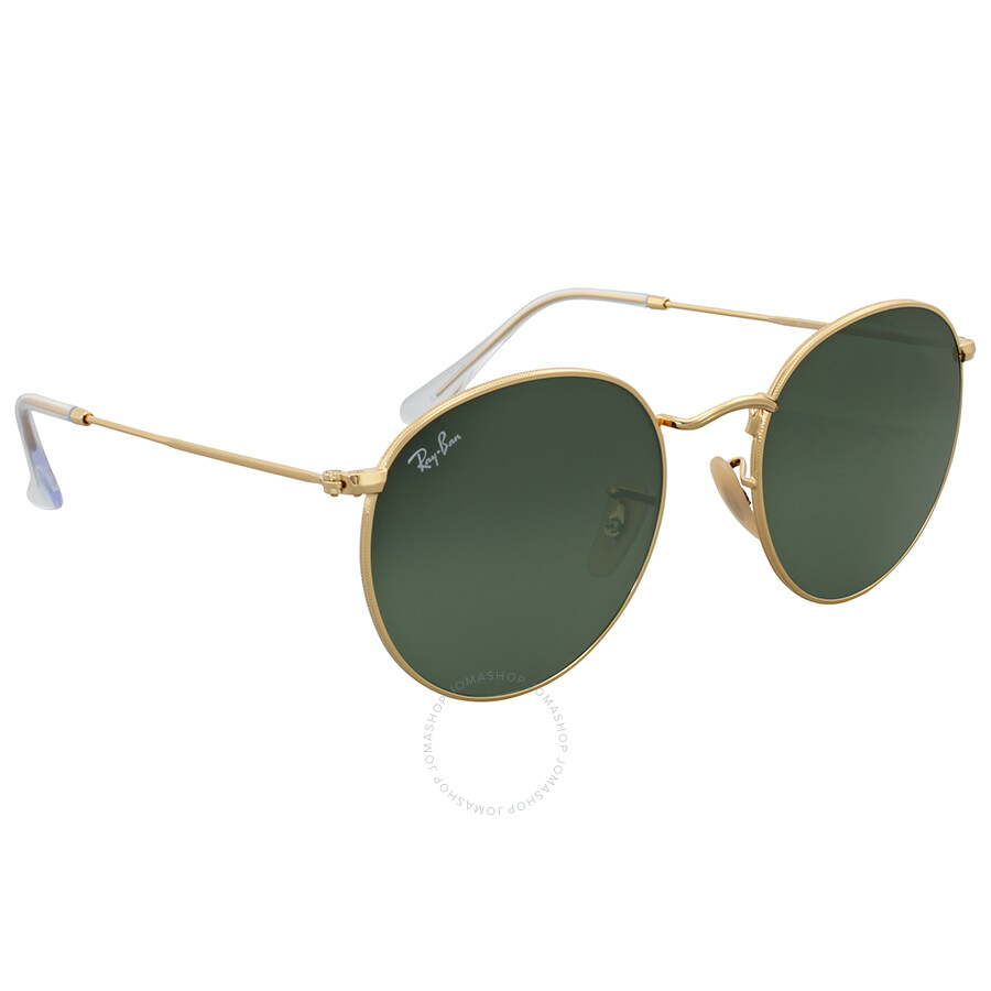 a47fbd5a2804b Ray Ban Green Classic G-15 Round Metal Sunglasses - Round - Ray-Ban ...