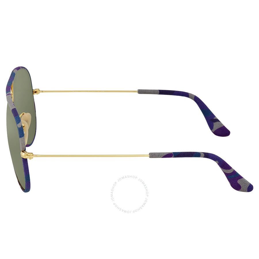 02b4367523 Ray Ban Green Classic G-15 Sunglasses RB3025JM 172 58 - Aviator ...