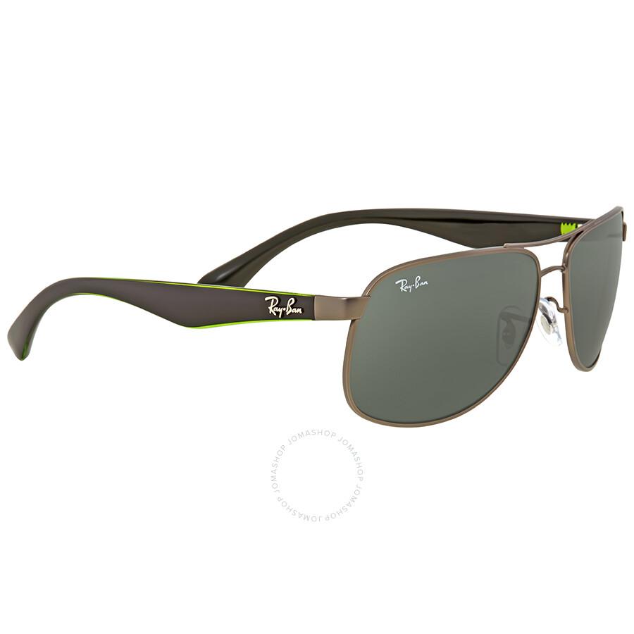 e5eceb93ec1 ... Ray Ban Green Classic Rectangular Men s Sunglasses RB3502 029 61 ...