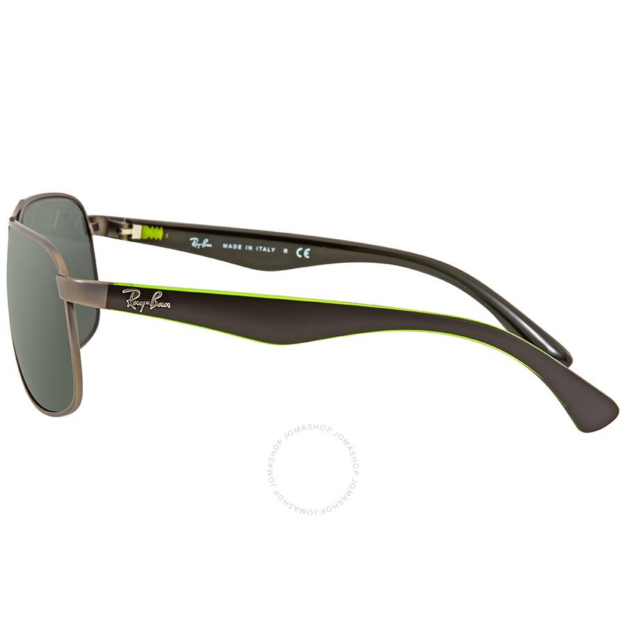 d11fd4bc03f Ray Ban Green Classic Rectangular Men s Sunglasses RB3502 029 61 ...