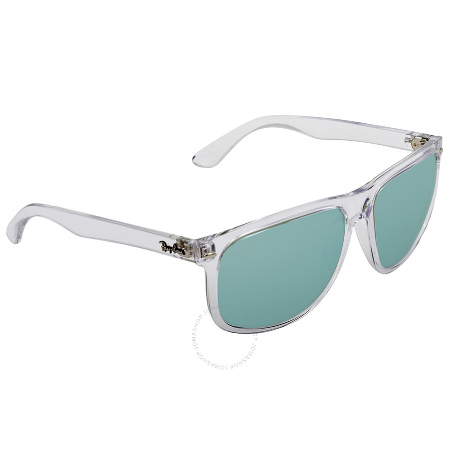 1095884376 Ray Ban Green Flash Silver Rectangular Sunglasses RB4147 632530 60 ...
