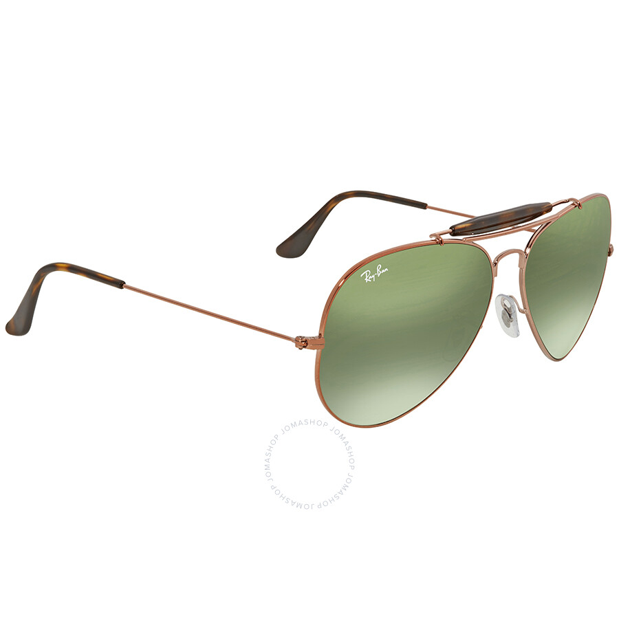 be54aeb42c ... Ray Ban Green Gradient Aviator Men s Sunglasses RB3029 9002A6 62 ...