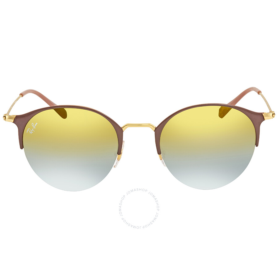 5c2b412bbae ... Ray Ban Green Gradient Mirror Round Sunglasses RB3578 9011A7 50 ...
