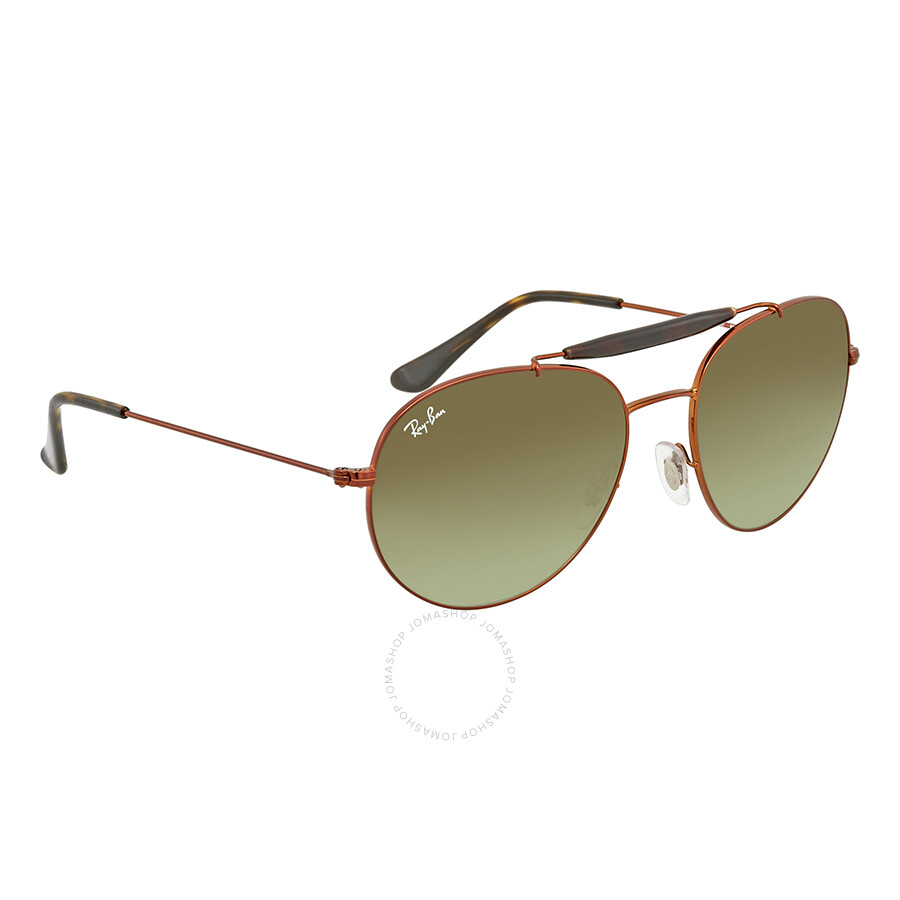 Ray Ban Green Gradient Round Sunglasses RB3540 9002A6 56 - Round ... ffa0ed855b36