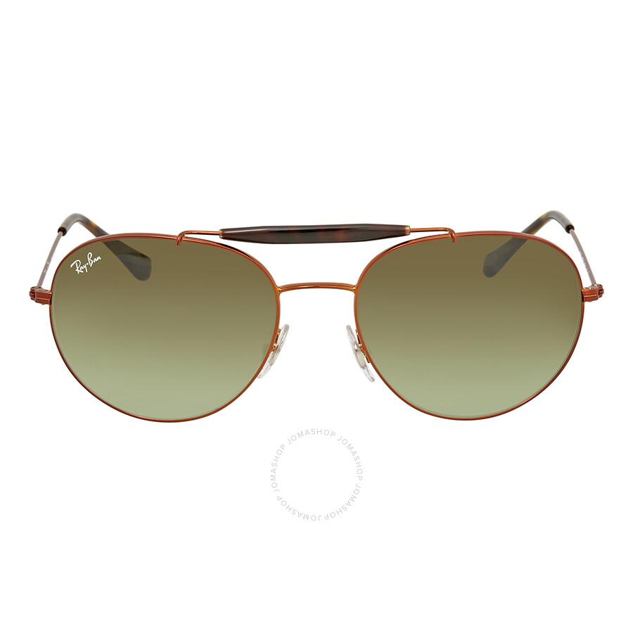 cc18c8e6e71 Ray Ban Green Gradient Round Sunglasses RB3540 9002A6 56 - Round ...