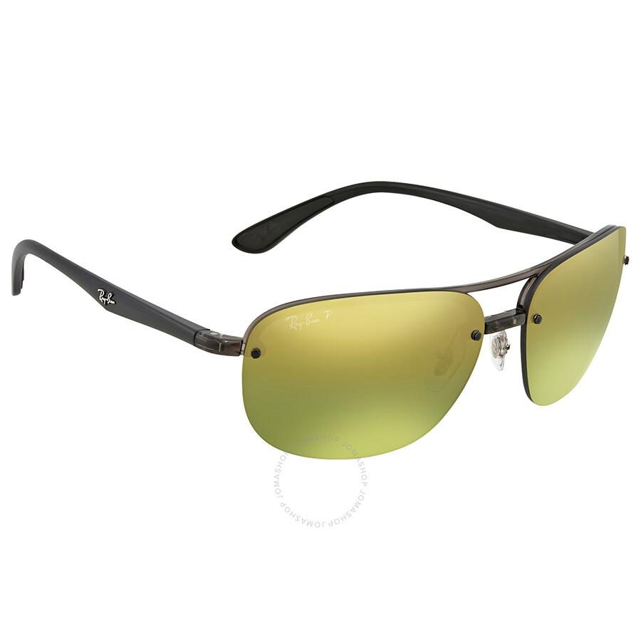 516158845e Ray Ban Green Mirror Chromance Rectangular Polarized Men s Sunglasses  RB4275CH 876 6O 63 ...