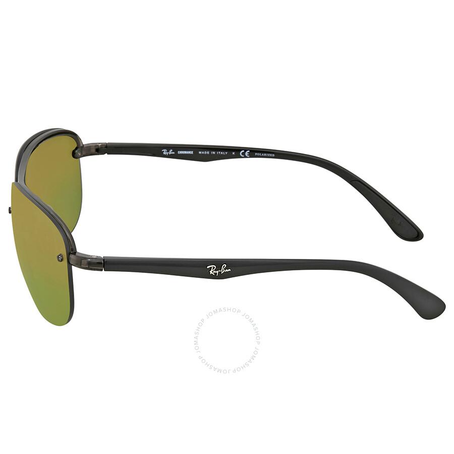 d4ab38f306 ... Ray Ban Green Mirror Chromance Rectangular Polarized Men s Sunglasses  RB4275CH 876 6O 63