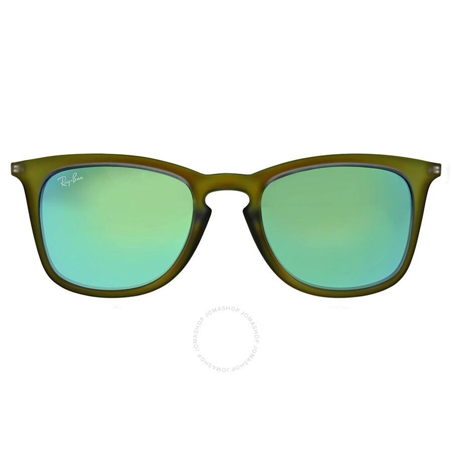 45def268cf Ray Ban Green Mirror Square Sunglasses - Ray-Ban - Sunglasses - Jomashop