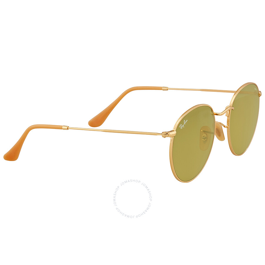 da87e0873f Ray Ban Green Photocromic Round Sunglasses RB3447 90644C 53 - Round ...