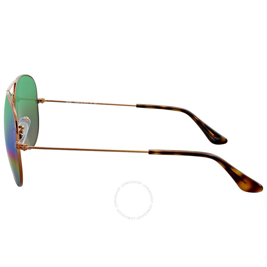 82d018fb4d Ray Ban Green Rainbow Flash Aviator Sunglasses - Ray-Ban ...