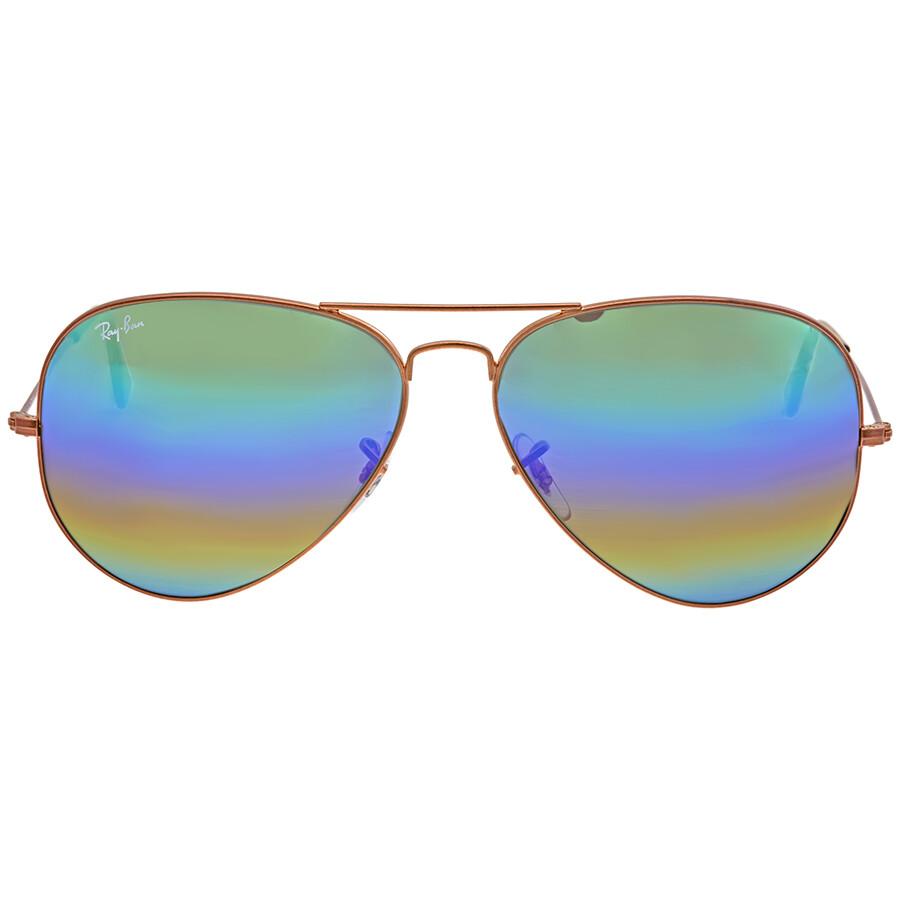 00799761c6c Ray Ban Green Rainbow Flash Men s Sunglasses RB3025 9018C3 62 ...
