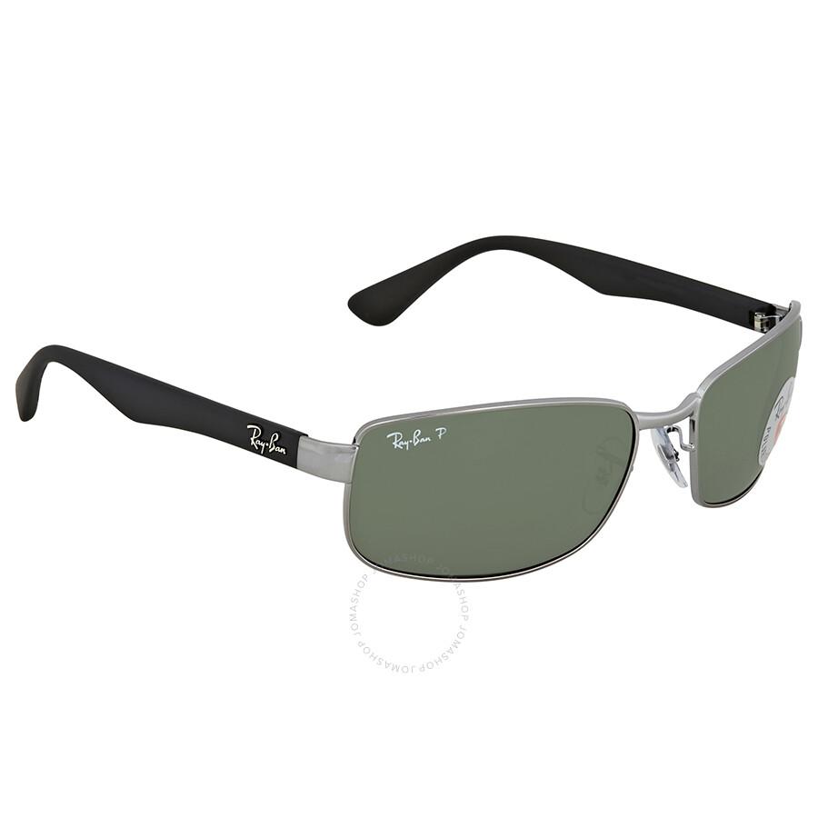 0f9da6cb83 Ray Ban Green Rectangular Polarized Sunglasses RB3478 00458 60 ...