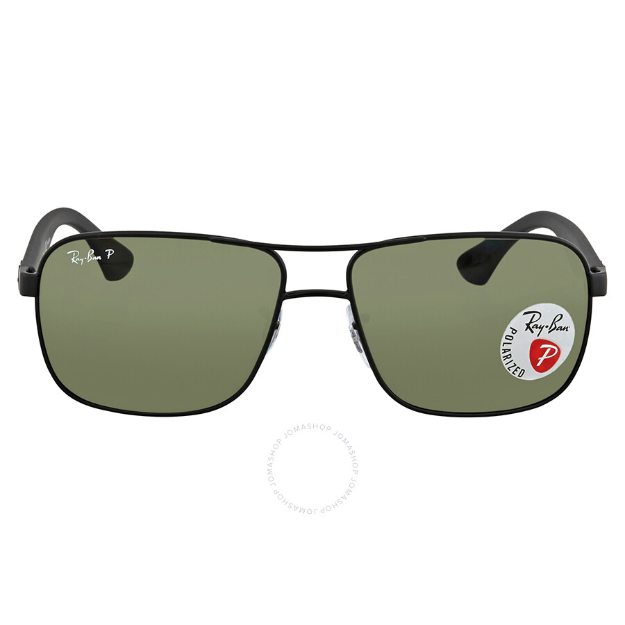 0d3bdcc5d8 Ray Ban Green Square Polarized Sunglasses RB3516 006 9A 59 - Ray-Ban ...