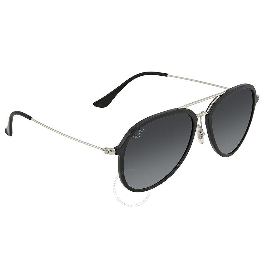533e6e26d0f Ray Ban Grey Gradient Dark Grey Aviator Sunglasses RB4298 601 7157 ...
