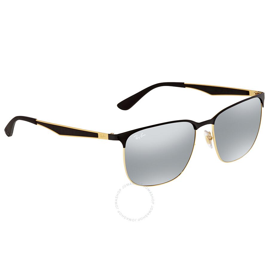 Ray Ban Grey Gradient Mirror Square Sunglasses RB20 20/20 20