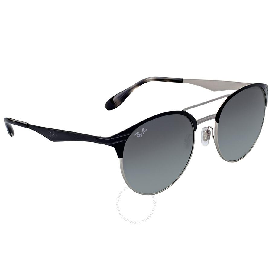 Ray ban sunglasses gradient -  Ray Ban Grey Gradient Round Metal Sunglasses