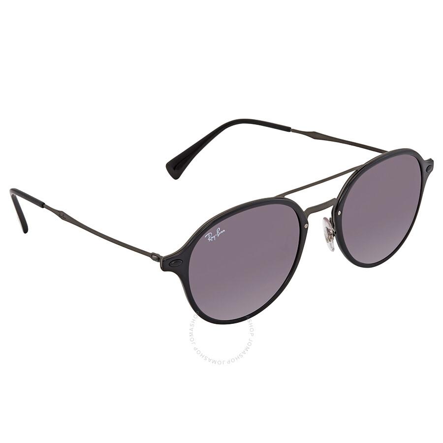 697508caac Ray Ban Grey Gradient Round Sunglasses RB4287 601 8G 55 - Ray-Ban ...