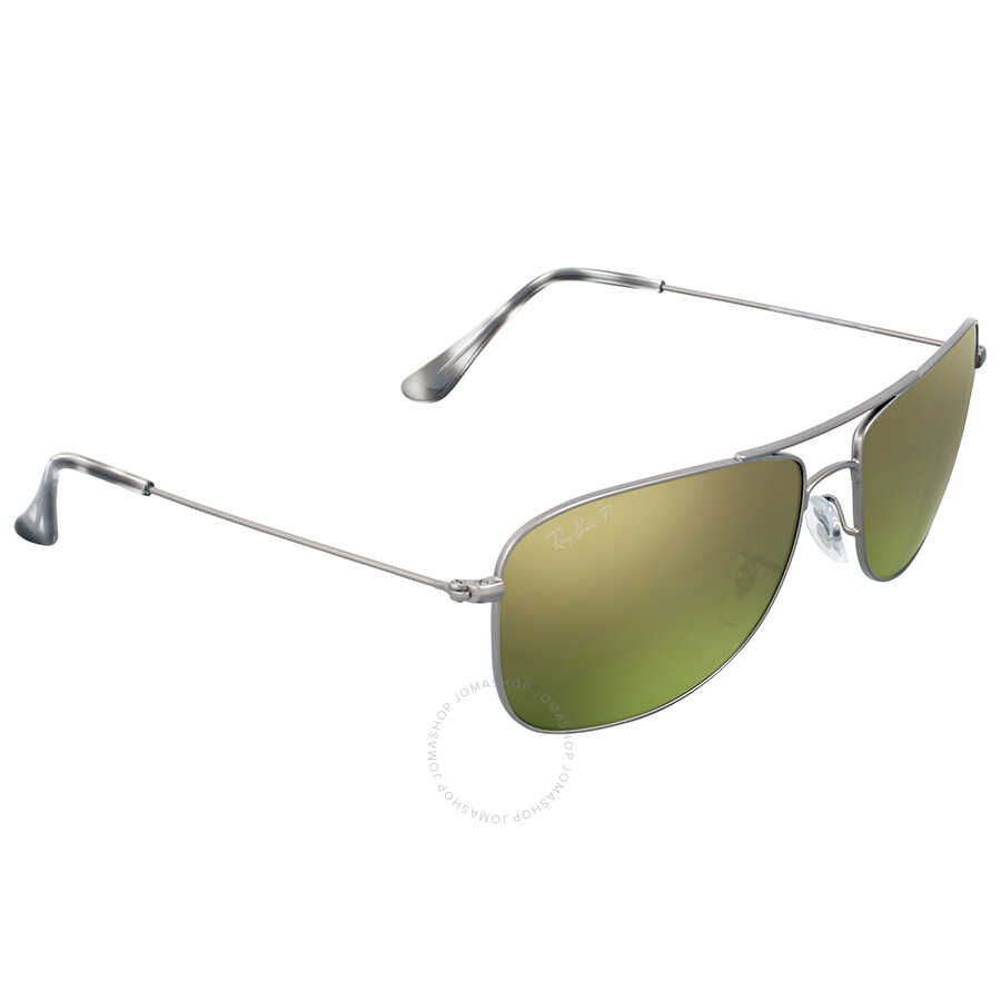 bb1fe57026 Ray Ban Gunmetal Polarized Green Mirror Chromance Sunglasses - Ray ...