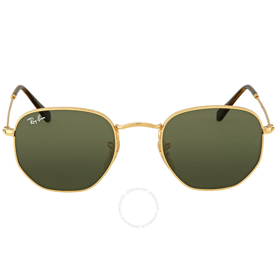 46aaa49ddda336 Ray Ban Hexagonal Flat Green Classic G-15 Sunglasses Item No. RB3548N 001 48