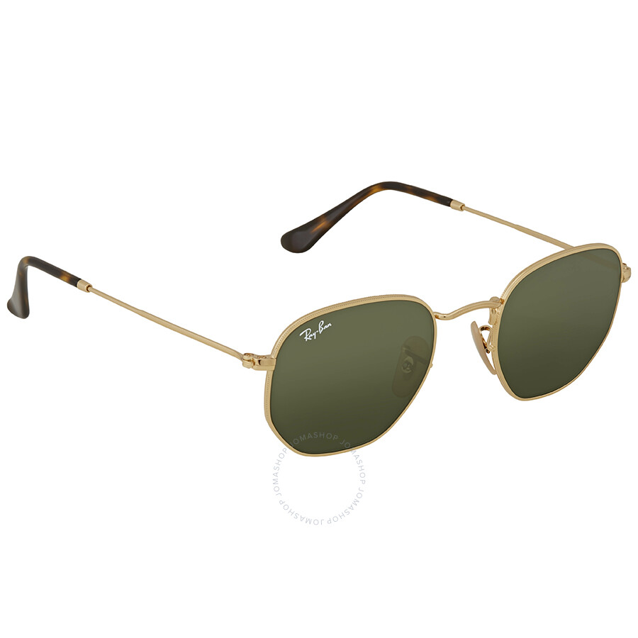808fbd926f3 Ray Ban Hexagonal Flat Green Classic G-15 Sunglasses - Ray-Ban ...