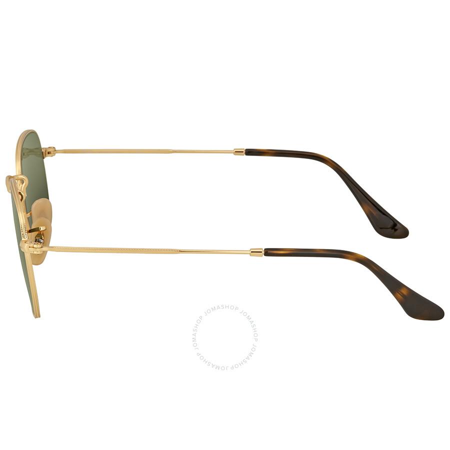 157b220aa Ray Ban Hexagonal Flat Green Classic G-15 Sunglasses - Ray-Ban ...