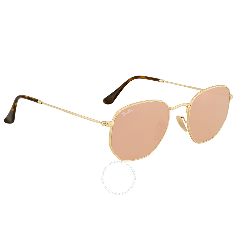 5ece3dcf0b8 ... Ray Ban Hexagonal Flat Lenses Copper Flash Men s Sunglasses RB3548N  001 Z2 51 ...