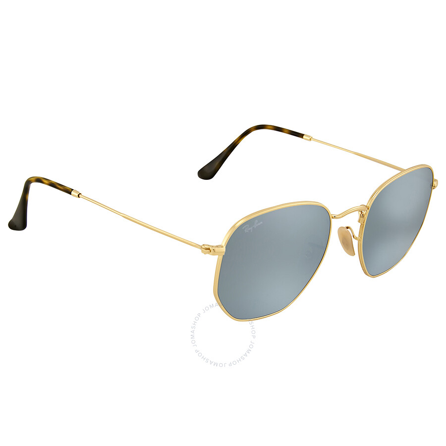 f89822510ff5e Ray-Ban Hexagonal Flat Silver Flash Sunglasses - Round - Ray-Ban ...