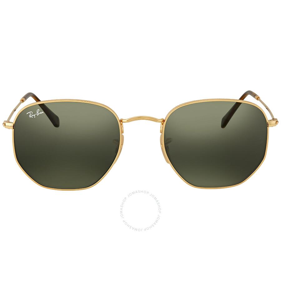 dd8d9035196e6 Ray Ban Hexagonal Green Classic G-15 Sunglasses Item No. RB3548N 001 54