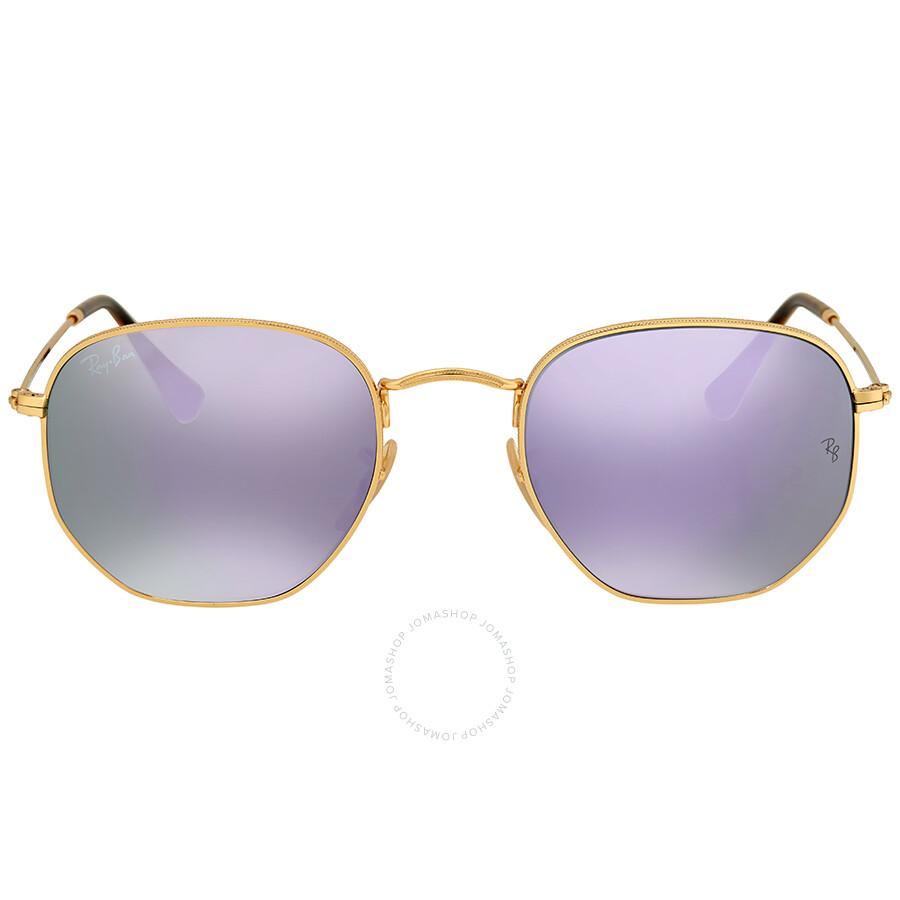 Ray Ban Hexagonal Lilac Mirror Unisex Sunglasses - Ray-Ban ... a02c38518b