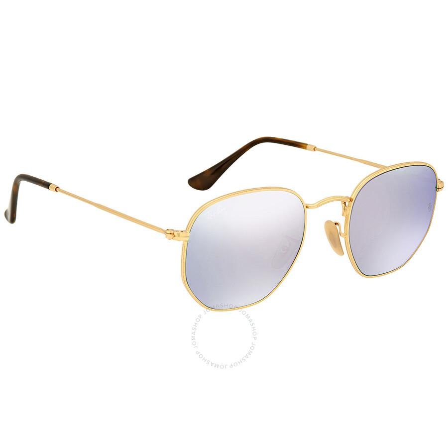 1519e32662 Ray Ban Hexagonal Lilac Mirror Unisex Sunglasses Ray Ban Hexagonal Lilac  Mirror Unisex Sunglasses ...