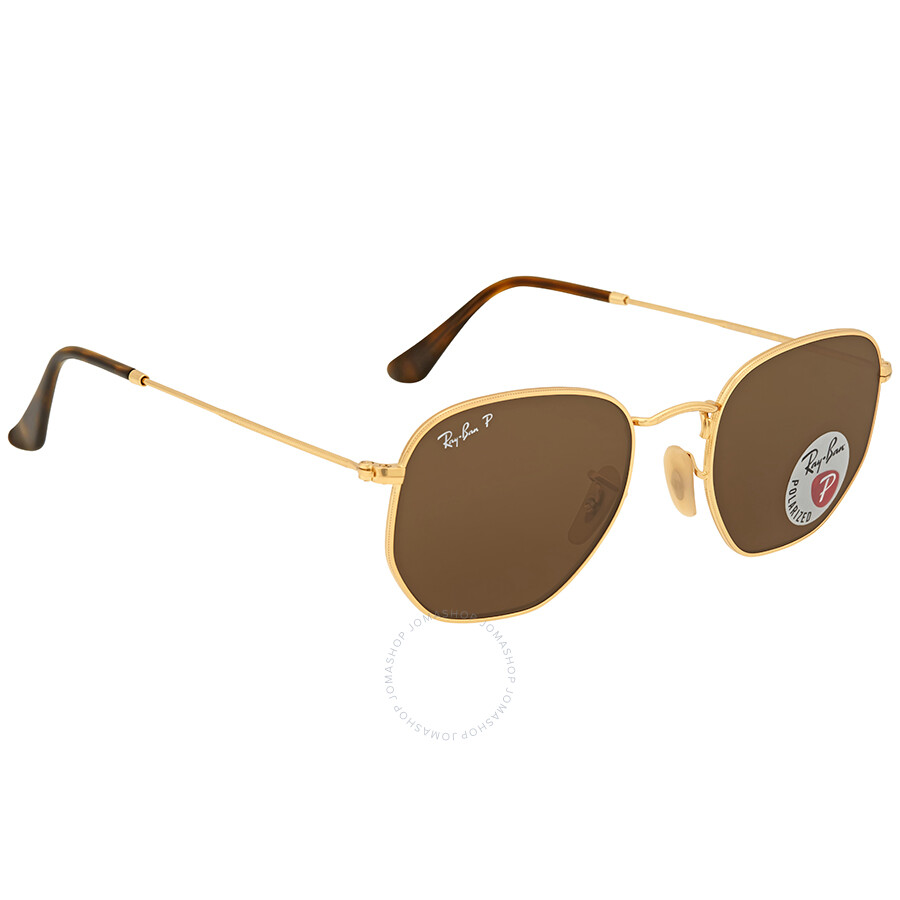 b5e522b4633 ... Ray Ban Hexagonal Polarized Brown Classic B-15 Men s Sunglasses RB3548N  001 57 51 ...