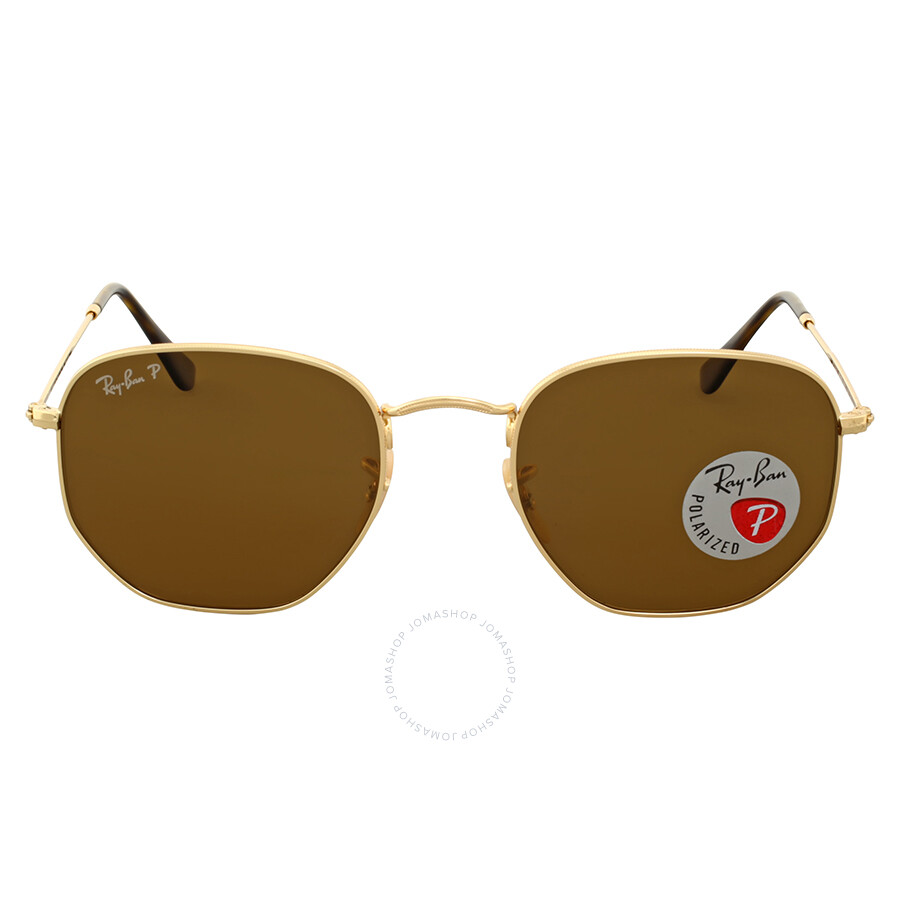 55b67151eb1 Ray-Ban Hexagonal Polarized Brown Classic Sunglasses - Ray-Ban ...