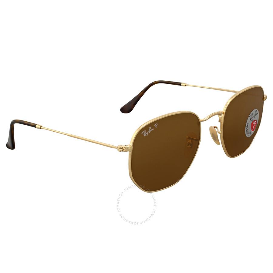 80f2cc97d7 Ray-Ban Hexagonal Polarized Brown Classic Sunglasses - Ray-Ban ...